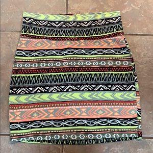 💐5/25 Cotton mini skirt Charlotte Russe Aztec